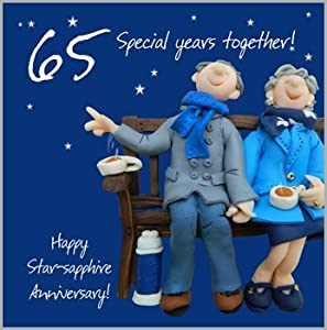 65th wedding anniversary cards