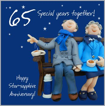 65th Wedding Anniversary Card Amazoncouk Kitchen Home