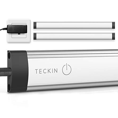 Under Cabinet Lighting LED Strip Lights,Teckin Linkable Kitchen Under Counter Lighting with Touch Sensor 12W 800 Lumens Natural White 4000K
