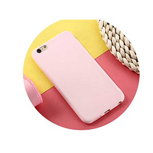 (Phone Case for iPhone 7 Case 6 6S 8 Plus 5 5S SE Simple Solid Color Soft Case Back Cover for iPhone Xs MAX XR X Pink for i6Plus 6sPlus)