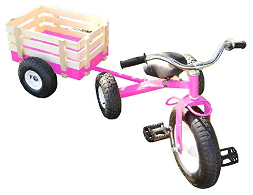 All Terrain Tricycle with Wagon (Pink), #CART-042P ()