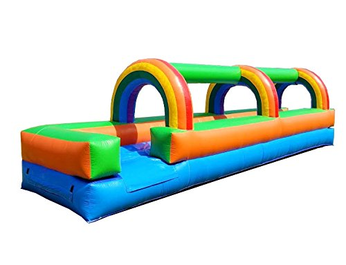 Pogo Bounce House Inflatable Slip and Slide, 25-Foot Long, 6-Foot Tall, 9-Foot Wide, Crossover Tropical Oasis Complete, with Included Blower, Stakes, Repair Kit, and Storage Bag