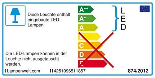 1 flammig, A+, inkl. Leuchtmittel in Gold//Messing aus Metall u.a Lampenwelt LED Deckenleuchte Keti LED-Deckenlampe Deckenlampe - Lampe Modern f/ür Flur /& Treppenhaus Flurleuchte