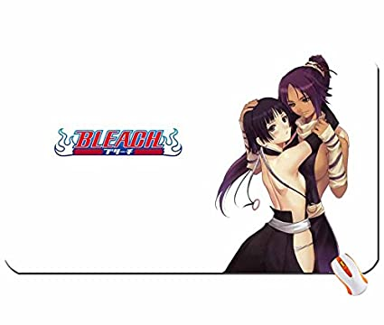 Tony Taka Anime Bleach Soifon Shihouin Yoruichi blanco gran alfombrilla de ratón Dimensiones: 60 x