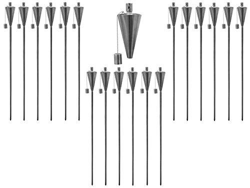 Garden Fire Torch - Oil/Paraffin Lantern - 1460mm Triangle Design - Pack of...