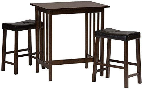 Perfect Baxton Studio Nova Wood 3 Piece Pub Set In Dark