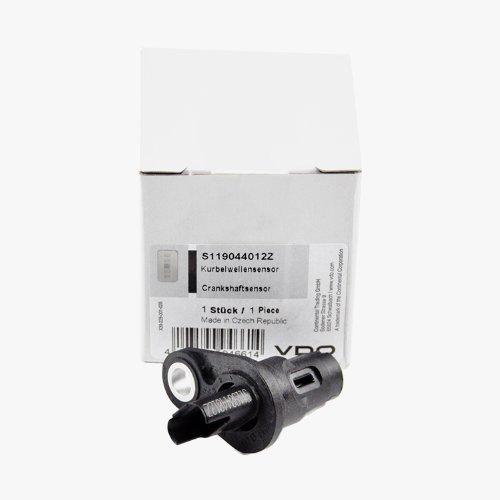 VDO BMW Engine Crankshaft Crank Position Sensor + Seal Siemens OEM 13627525015 ()
