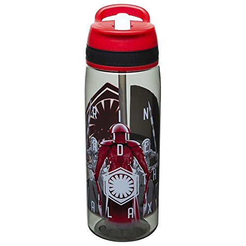 Zak Designs Star Wars The Last Jedi Reusable 25 Ounce Water Bottle With Straw - Praetorian Guard