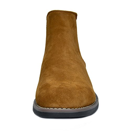 f40d3a3384973 Bruno Marc Men's Urban-06 Camel Suede Leather Chukka Ankle Boots – 10 M US
