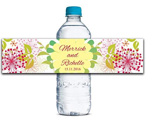 DONL9BAUER Personalized Water Bottle Labels, Decorative Wedding Labels, Custom Wedding Stickers, Bridal Shower Wedding Labels WBL181P