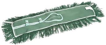 """Wilen C004060, Permatwist Polyester Back Dust Mop, 60"""" Length x 5"""" Width, Green (Case of 6)"""