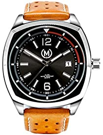 Marchand Classic Driver Racing Watch | Retro Watch | British Designed | Dress Watch | Highly Reliable Quartz Movement | Watch for Men | Tan Leather Band | 24 Month Warranty