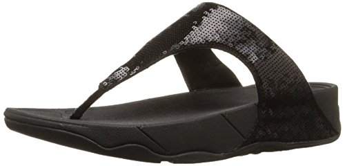 (FitFlop Women's Classic Electra Sandal ,Black ,8 M US)