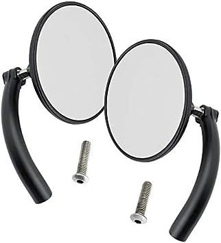 -Chrome Pair Biltwell UP CIR-HD-CP Round Perch Mount Mirror for H-D