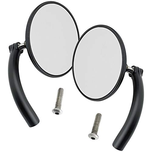 Biltwell UP- CIR-HD-BK Round Perch Mount Mirror for H-D (Pair) -Black by Biltwell (Image #1)