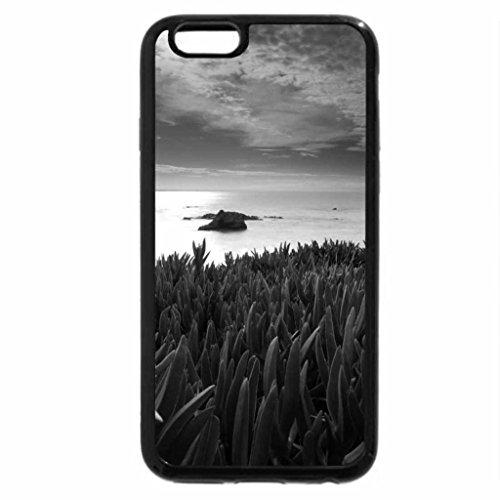 iPhone 6S Plus Case, iPhone 6 Plus Case (Black & White) - ocean landscape