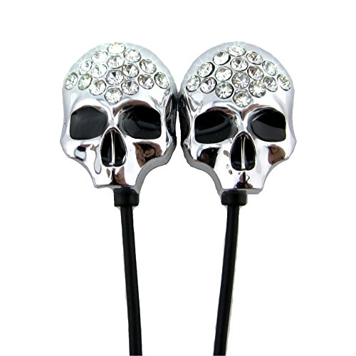 Earbuds, Ywcking Premium Earphone with Microphone skull Stereo Headphone for iPhone Samsung iPad MP3 Players and Most Android (Cool Names For A Halloween Party)