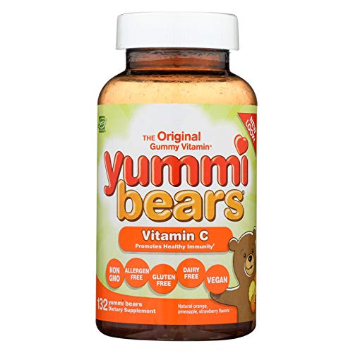 Yummi Bears Vitamin C Chewable Gummy Vitamin Supplement for Kids, 132 - Emergency Kids Grape
