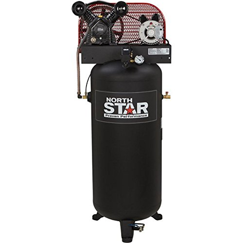 NorthStar Belt-Drive Electric Stationary Air Compressor - 3 HP, 60-Gallon Vertical Tank