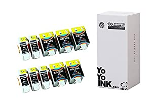YoYoInk 10 Pack Compatible Ink Cartridges Replacement for Kodak 30XL Series (5 Black, 5 Color) with Ink Level Indicator