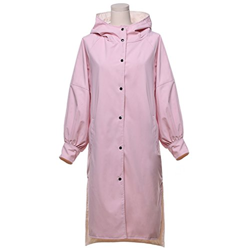 Rosa Manga E Ocio Outwear Casual Coat Encapuchado Invierno Otoño FFWwgqaE