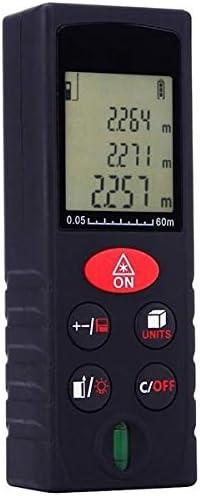 TnSok Telémetros láser Portátil KXL-D60 60M Digital del Metro De Distancia del Telémetro Diastimeter (Color : Black, Size : A)