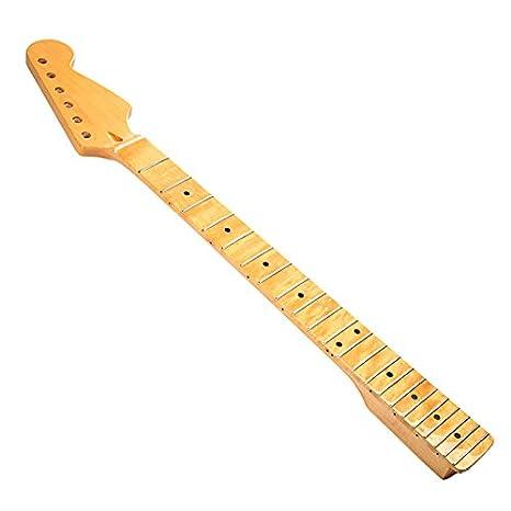 SODIAL (R) mango guitarra repuesto mango de arce Palisandro teclado para ST Strat guitarra eléctrica: Amazon.es: Amazon.es