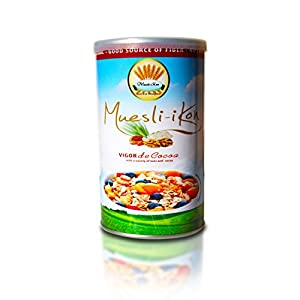 Muesliikon Vigor De Cocoa Mix,(Pack of 2) Premium, High Quality 2 Day Manufacturing Process. A Hint of Unrefined Cocoa, Low Sugar Cereal with Quinoa, Chia Seeds