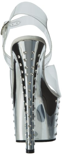 Pleaser, Sandali donna, (Clr/Slv Chrome), 40 (7 UK)