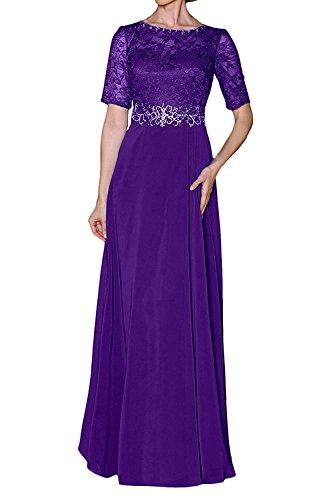 Kleider Partykleider Chiffon Langes Brautmutterkleider Formal Abendkleider mia Festlichkleider Damen Braut La Lila Elegant wqF8PcU