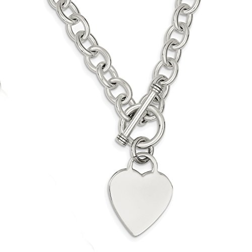 925 Sterling Silver Toggle Necklace - 6