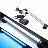 42 LED Aquarium Submersible White Blue Light Lamp Bar 230V