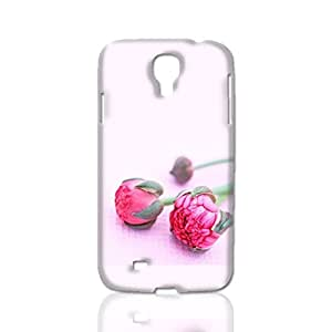 Pink Peonies 3D Rough Case Skin, fashion design image custom, durable hard 3D case cover, Case New Design for Samsung Galaxy S4 I9500 , By Codystore