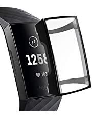 XIHAMA Case for Fitbit Charge 3,TPU Plated Screen Protector Full Around Cover Bumper Shell