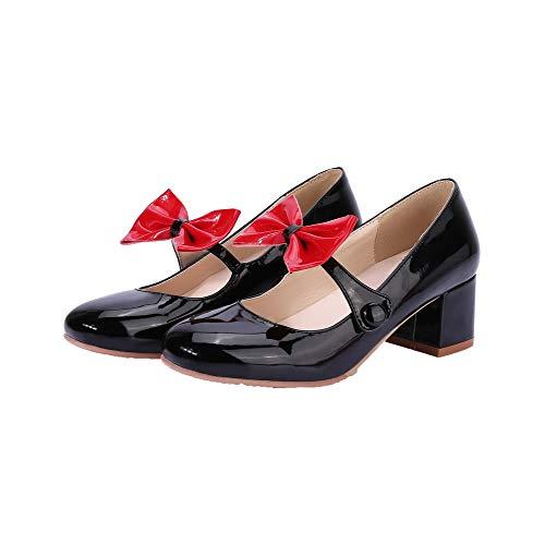 AllhqFashion Ballet Donna Colore Assortito Tacco FBUIDD006268 Tirare Medio Nero Flats PZPwHFrq