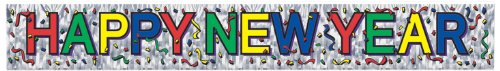 [Metallic Happy New Year Fringe Banner Party Accessory (1 count) (1/Pkg)] (Happy New Year Costumes)
