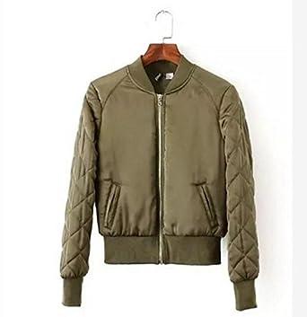Amazon Com Delacey Stylish Women Basic Coats Quilting