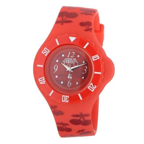 Le Temps des Cerises TC52RDPU - Reloj digital para mujer de caucho rojo: Amazon.es: Relojes