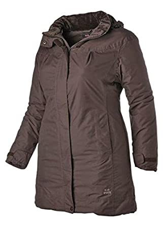 save off dca96 9eea1 H.I.S. Damen Jacke Mantel Marken-Funktions-Kurzmantel, braun ...