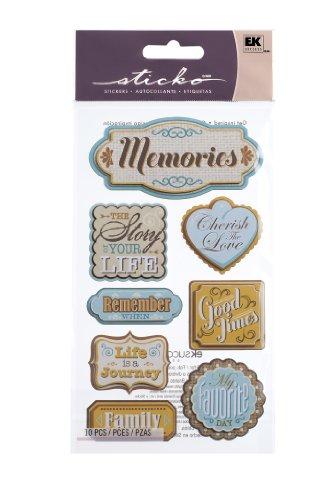 Memory Scrapbook Stickers - Sticko Wonderful Memories Stickers