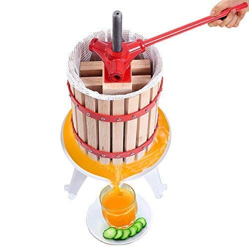 Fruit and Wine Press 4.75 Gallon Cider Apple Grape Crusher Juice Maker Tool Wood by Eelpitha (Image #4)