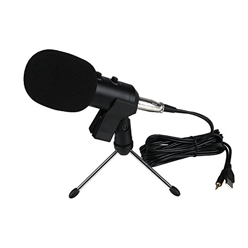 Price comparison product image Xinzhi Condenser Microphone -USB Microphone,  Plug &Play Home Studio USB Condenser Microphone for Skype,  Recordings, Google Voice Search,  Games(Windows / Mac)