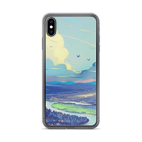 iPhone Xs Max Pure Clear Case Cases Cover Landscape Art Road Mountains Sky