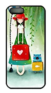 Children Illustration most protective iphone 5S case PC Black for Apple iPhone 5/5S