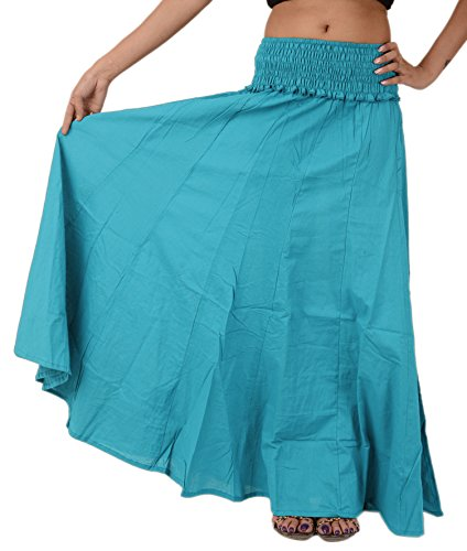 [SNS Pure Cotton Beach Long Maxi Evening Skirt] (Cheerleader Outfit For Sale)