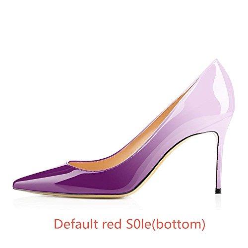 Tacchi Pan Alti mm Viola e 85 da Donnacarpe Rossa Spillo Eleganti Tacco bianco con a Caitlin Suola w8fgB8q