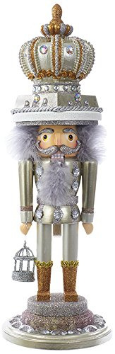 Kurt S. Adler 20'' Hollywood Gold and Silver King Nutcracker