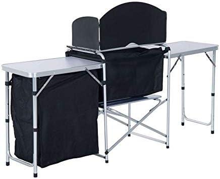 Tovendor Mesa de Cocina portátil para Camping, Mesa de Camping ...