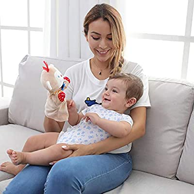 Kekailu Hand Puppet,Cute Cartoon Animals Hand Puppet Doll Funny Interactive Plush Toys Kids Gift,Duck: Home & Kitchen