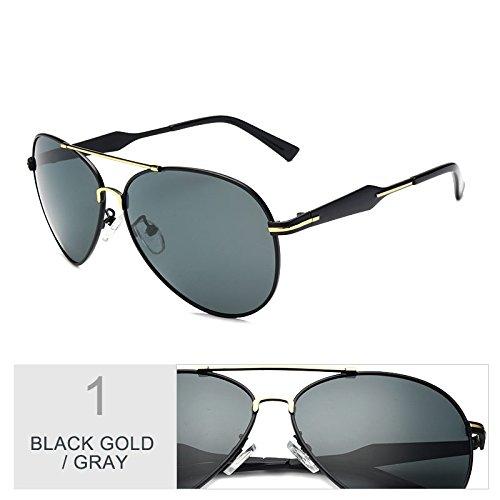 A Gafas Los Gun Fresco Black Clásicas Sol Visibilidad Gris Guiar Gray Gafas Nocturna Hombres Lentes Aviador Piloto De TIANLIANG04 Gafas Gold Para Polarizadas F7TdqF